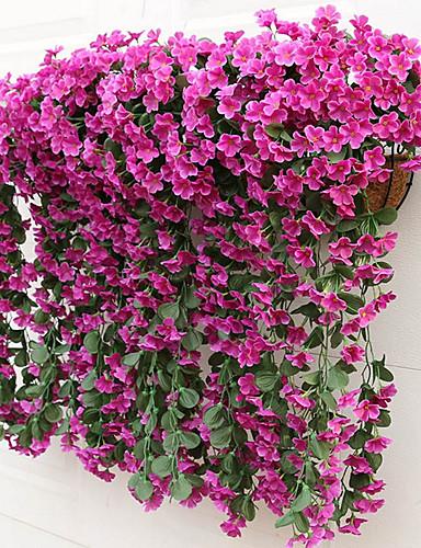 billige Festival-Kunstige blomster 2 Gren Moderne Stil Lilla Veggblomst