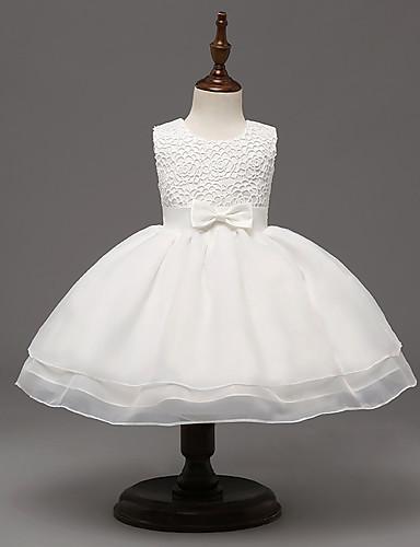 bal jurk knie lengte bloem meisje jurk - kant organza sleeveless juweel nek door ydn