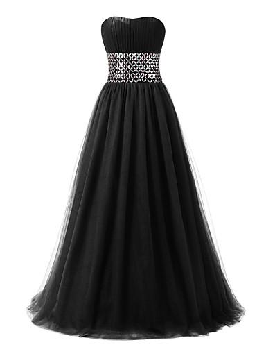 Ball gown kultaseni lattia pituus tulle muodollinen iltapuku mekko yksityiskohtaisesti
