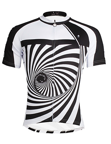 ILPALADINO Men s Short Sleeve Cycling Jersey Stripes Bike Top Breathable  Quick Dry Ultraviolet Resistant Sports 100% Polyester Mountain Bike MTB  Road Bike ... 76b1f8c5c