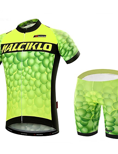 cheap Cycling Clothing-Malciklo Men's Short Sleeve Cycling Jersey with Shorts Bike Clothing Suit Breathable 3D Pad Quick Dry Back Pocket Sports Coolmax® Lycra Bubble Mountain Bike MTB Road Bike Cycling Clothing Apparel