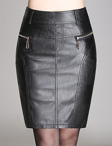 Damen Übergrössen Bodycon Röcke - Solide