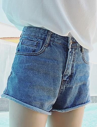 Kvinders Punk & Gotisk Shorts / Jeans Bukser Uelastisk Bomuld