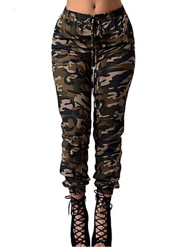 abordables Pantalons Femme-Femme Chic de Rue Quotidien Sports Skinny / Chino Pantalon - Bloc de Couleur Vert L XL XXL