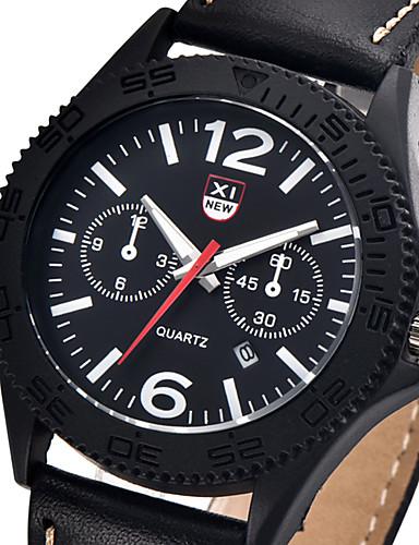a69446c8f36 Masculino Relógio Esportivo Relógio de Moda Relógio de Pulso Calendário  Cronômetro Quartzo Couro Banda Vintage Legal CasualPreta Azul de 5255842  2019 por ...