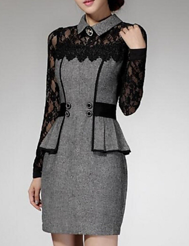 gaine dentelle robe femme travail grandes tailles. Black Bedroom Furniture Sets. Home Design Ideas