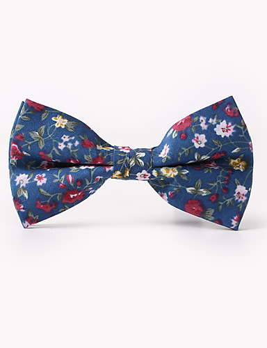 cheap Men's Ties & Bow Ties-Men's Party / Work / Basic Bow Tie - Floral Print