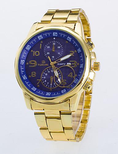 Herrn Armbanduhr Quartz Armbanduhren für den Alltag / Rose Gold überzogen Legierung Band Analog Freizeit Kleideruhr Gold - Schwarz Blau