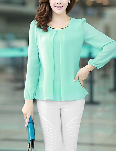 Pentru femei Mărime Plus Size Bluză Mată Sleeve Lantern