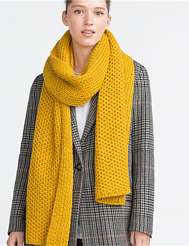 Damen Grundlegend Rechteck Solide / Schwarz / Gelb / Grau / Herbst / Winter
