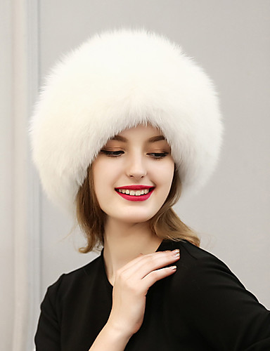 Mulheres Vintage Fofo Casual Pêlo Sintético, Esqui Sólido