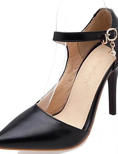 Damen Schuhe Kunststoff Lackleder Kunstleder Frühling Sommer Komfort Neuheit High Heels Walking Stöckelabsatz Schnalle für Hochzeit
