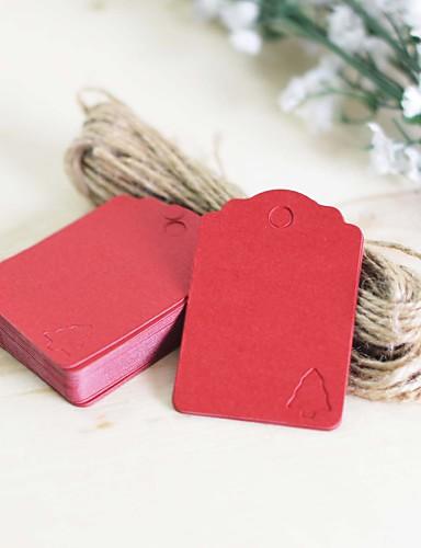 Estiquetas / Marcadores(Castanho / Verde / Vermelho,Cartão de Papel Duro) -Tema Clássico