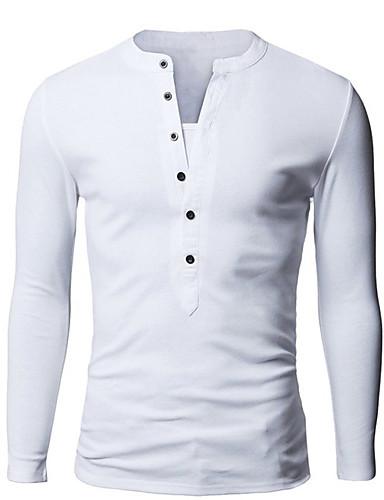 Tee-shirt Homme, Couleur Pleine Sports Travail Coton