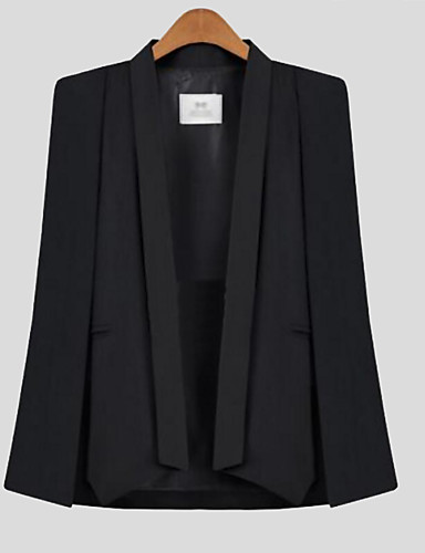 Polyester Rosa / Hvit / Sort Solid Ermeløs,Rundet jakkeslag Cloak / Capes Ensfarget Høst Enkel Fritid/hverdag Kvinner