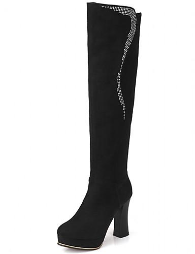 Støvler-Syntetisk laklæder Kunstlæder-Combat-støvler Originale Cowboystøvler Snowboots Ankelstøvler Ridestøvler Modestøvler