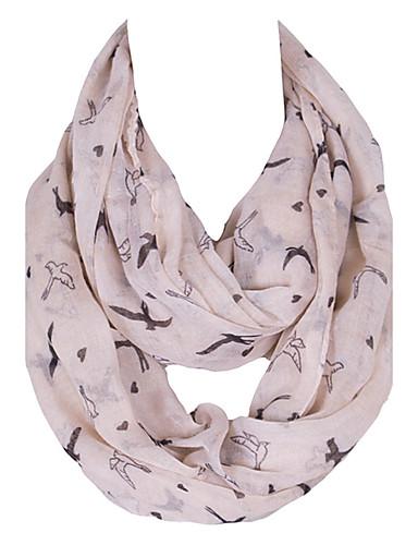 Damer Vintage / Sødt / Fest / Casual Øvrigt / Polyester Halstørklæde-Dyremønster Uendelighedshalstørklæde