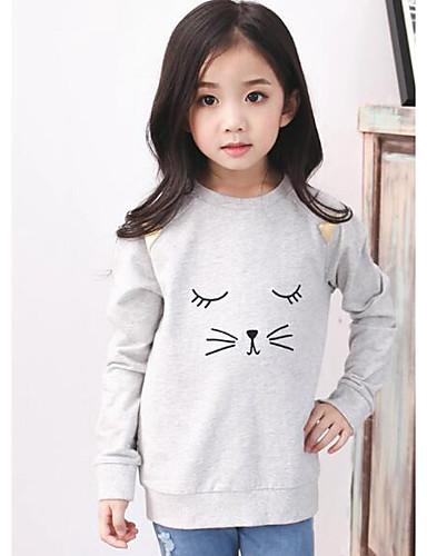 9b46dba552e Κοριτσίστικα Μπλούζα με Κουκούλα & Φούτερ Βαμβάκι Άνιμαλ Πριντ Καθημερινά  Φθινόπωρο Μακρύ Μανίκι Animal Print Λευκό