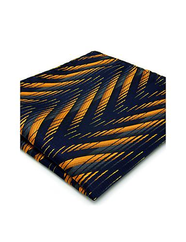 メンズヴィンテージかわいいパーティーワークカジュアルレーヨンネクタイポケットの四角形 - 幾何学的な色のブロックジャカード、ベーシック