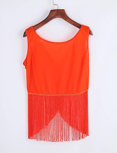 여성 솔리드 라운드 넥 민소매 블라우스,섹시 클럽 레이온 여름 얇음