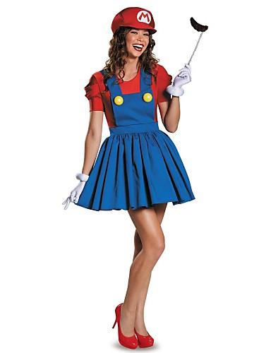 billige Halloween- og karnevalkostymer-Film & Tv Kostymer Cosplay Kostumer Sexy Uniformer Rød / Grønn Terylene Cosplay-tilbehør Jul / Halloween / Karneval kostymer