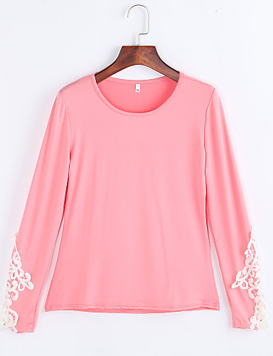 Women's Sexy Beach Casual Party Long Sleeve Lace Slim T-shirt