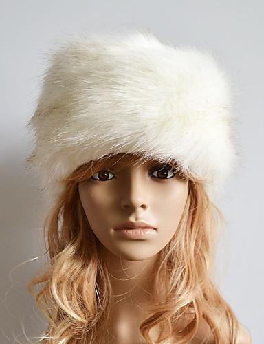 Per donna Inverno Pelliccia sintetica Romantico Casual Cappello di lana 765ea455a442