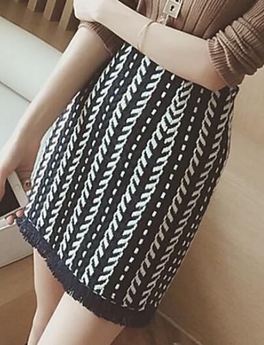 女性用 クラシック・タイムレス ボディコン スカート - 純色