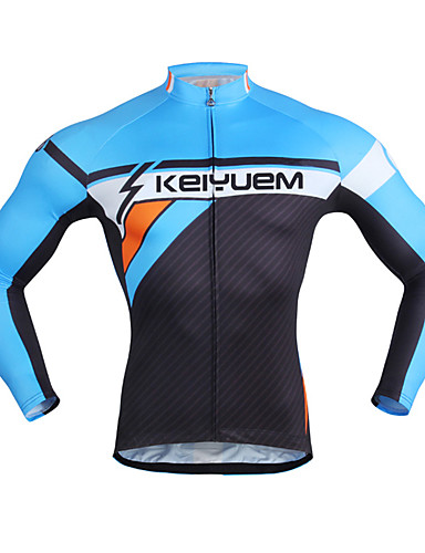 cheap Cycling Clothing-Men's Women's Unisex Long Sleeve Bike Top Waterproof Breathable Quick Dry Sports Winter Terylene Clothing Apparel / Waterproof Zipper / Anatomic Design / Stretchy / Anatomic Design