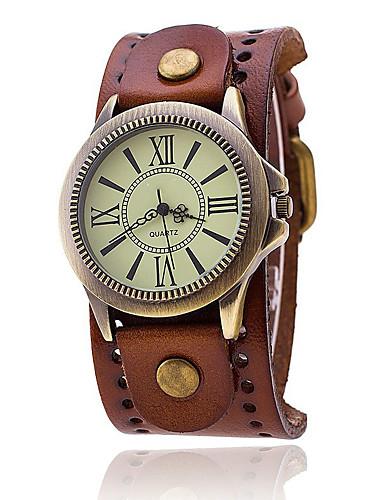 Hombre Reloj de Moda / Reloj Militar / Reloj de Pulsera Cool / Punk / Colorido Piel Banda Encanto / Vintage / Casual Negro / Blanco / Azul / KC 377A