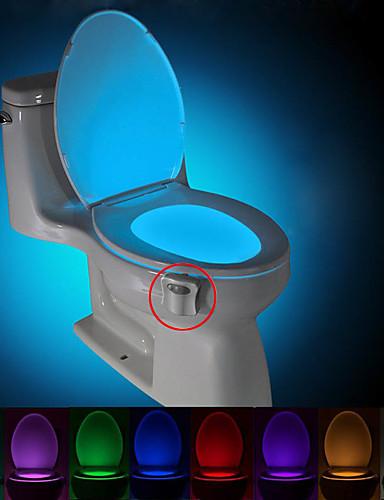 Недорогие Распродажа-Brelong движение активированный туалет ночник светодиодный туалет свет ванная комната