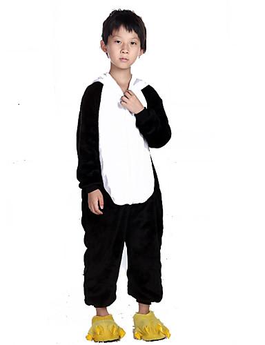 570d53b26132 Kid s Kigurumi Pajamas Panda Animal Onesie Pajamas Flannel Toison Black    White Cosplay For Boys and Girls Animal Sleepwear Cartoon Festival    Holiday ...