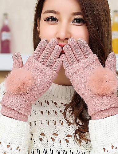 قفازات نسائي الأصابع طول المعصم حفلة / جميل / الشتاء