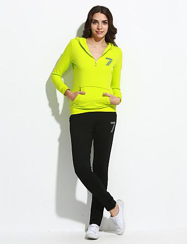 Naisten Pluskoko activewear Set Painettu