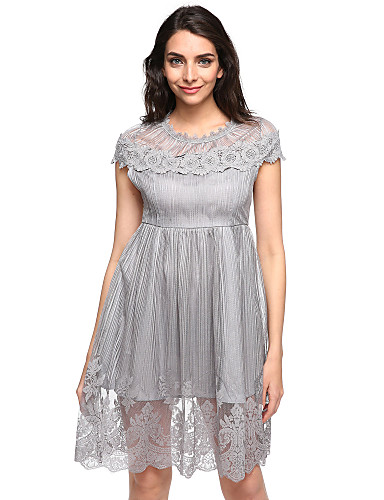 558341b2b860 Kvinders Street I-byen-tøj Chiffon Kjole Patchwork