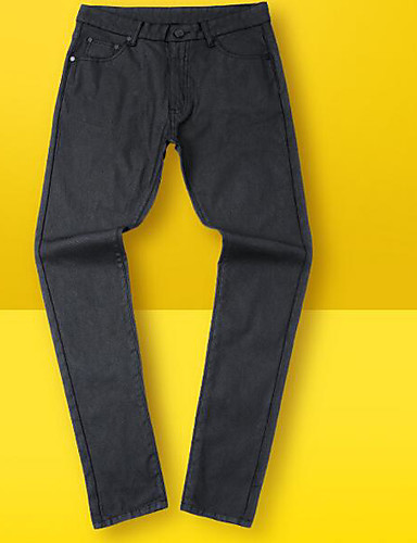 Herren Retro Mittlere Hüfthöhe Micro-elastisch Chinos Gerade Hose,Pailletten einfarbig