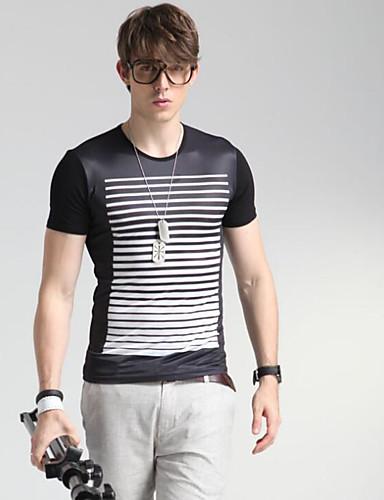 男性用 Tシャツ ラウンドネック ソリッド コットン