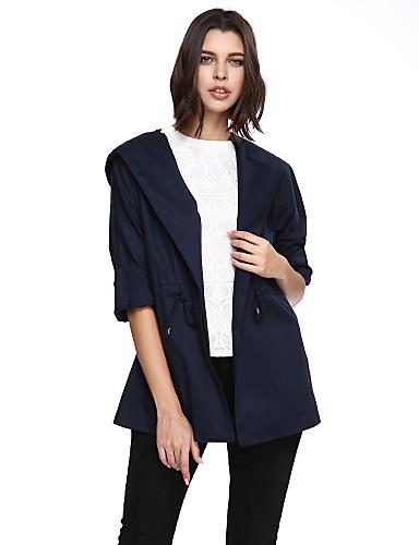 Damen-Solide Grundlegend Übergrössen Mantel