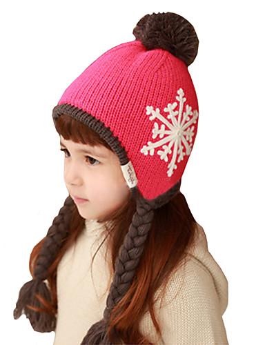 Mädchen Hüte & Kappen Winter Strickware Braun Rot