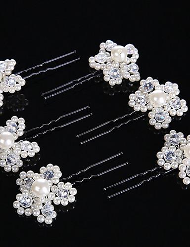 abordables Demoiselles d'Honneur-Perle / Cristal Bâton de cheveux / Épingle à cheveux avec 1 Mariage / Occasion spéciale Casque