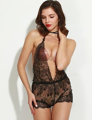 d0f94f2e53 Női Sexy Csipke fehérnemű Hálóruha Egyszínű 5100155 2019 – $9.99