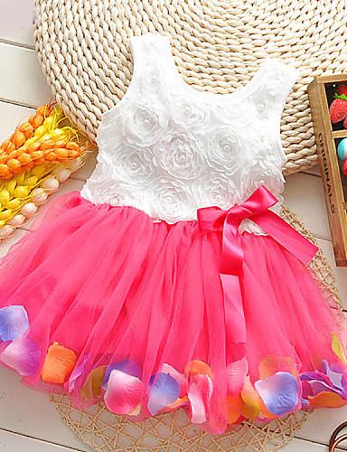 Κορίτσια Φόρεμα Βαμβάκι Φλοράλ Καλοκαίρι Αμάνικο