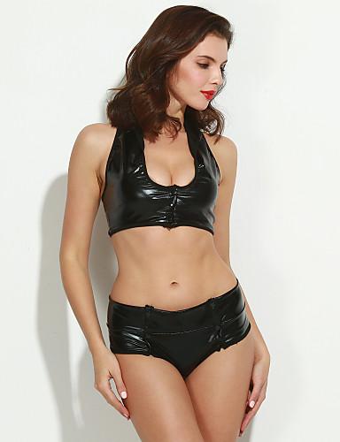 Damen Sexy Uniformen & Cheongsams Nachtwäsche Solide / Tiefes U