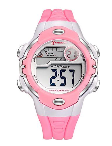 Quartzo Digital Relogio digital Relógio Esportivo Venda imperdível Plastic Banda Amuleto Fashion Preta Branco Vermelho Rosa Roxa Amarelo