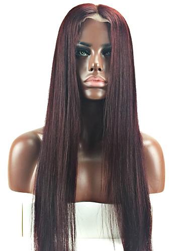 abordables Perruques Naturelles Dentelle-Perruque Cheveux Naturel Rémy Full Lace Cheveux Brésiliens Droit Femme Densité 130% avec des cheveux de bébé Cheveux Colorés Ligne de Cheveux Naturelle Perruque afro-américaine 100 % Tissée Main