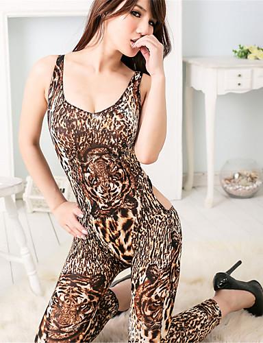 Büyük Bedenler Süper Seksi Teddy Yatak kıyafeti Solid Kadın's