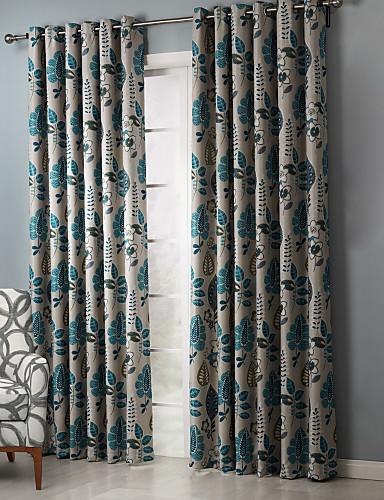 billige Egendefinerte gardiner-Skreddersydd Værelses Bemørkning gardiner gardiner To paneler 2*(W107cm×L213cm) / Soverom