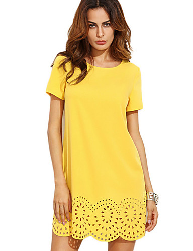 Women's Going out Street chic Sheath Dress - Solid Colored