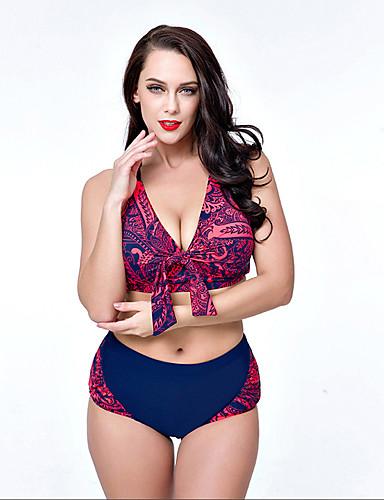 Mujer Floral / Cintura Alta Bikini Floral