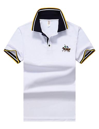 Polo - Esportes Activo / Moda de Rua Sólido Algodão Colarinho de Camisa / Manga Curta / Praia